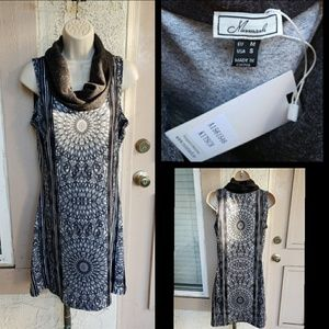 NEW $69.99 women MISMASH cowlneck dress SMALL 10